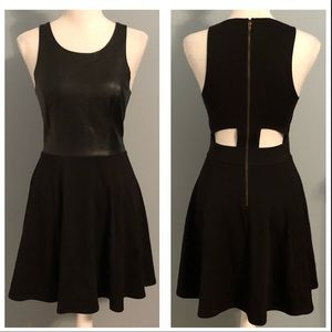 Forever 21 contemporary faux leather cutout dress